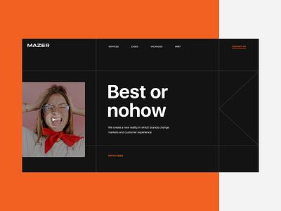 Mazer. Corporate website corporate website uiux website typography composition design web ui