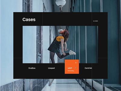 Mazer. Slider of cases design web ui typography composition animation corporate website webdesign uiux cases slider