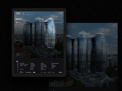 Taryan Towers architecture animation ui web