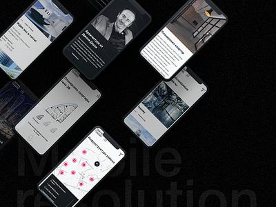 Taryan Towers adaptetion mobile architecture animation ui web