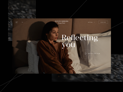 11 Mirrors Design Hotel homepage gallery typography composition hotel architecture design web ui