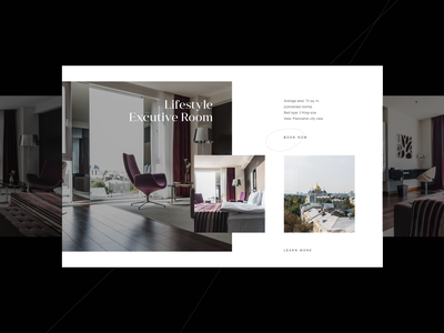 11 Mirrors Rooms gallery gallery typography hotel animation ui web design