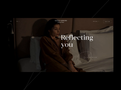 11 Mirrors Preloader, Microinteraction microinteraction button hover 11 mirrors composition transition gallery typography hotel design web ui animation