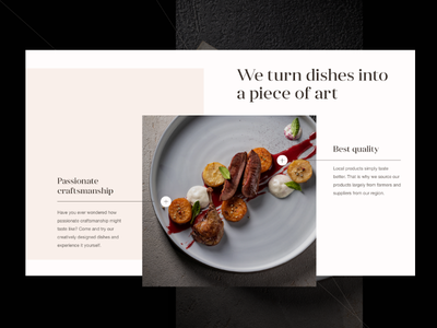 11 Mirrors Rooftop Restaurant pointers dishes food composition design web ui 11mirrors restaurant