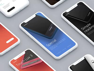 PocketBook Mobile e-commerce design adaptive mobile ui pocketbook composition typography animation design web ui