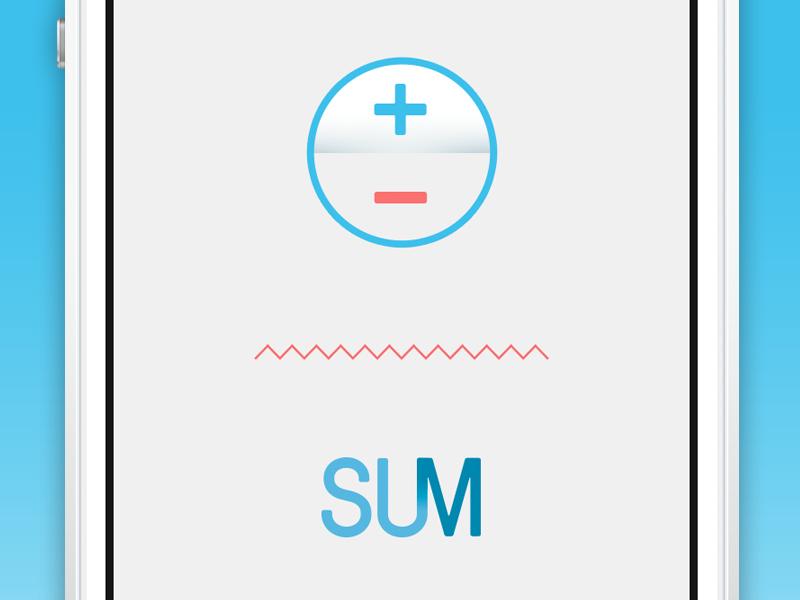 Sum app dribbble