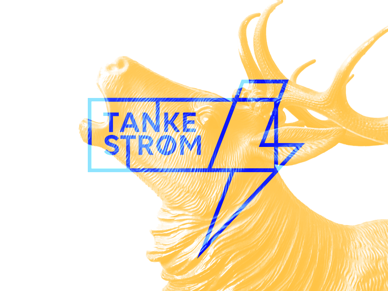 Flow of thoughts blue lines stroke typography identity logo mark icon lightning