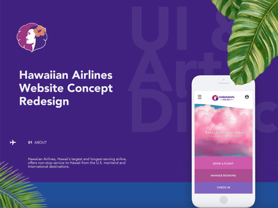 Hawaiian Airline Redesign Concept redesign concept website booking airline art direction ux ui