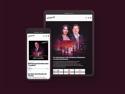 Überstunde Website pwa responsive music player webdesign minimal berlin podcast