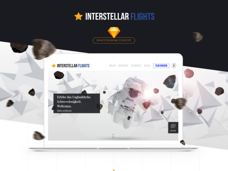Interstellar Flights 👨🚀🚀💫 branding logo design webdesign ui spaceship astronaut checkout tourism space