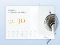 Berlin Weather Goals =) | UI Card