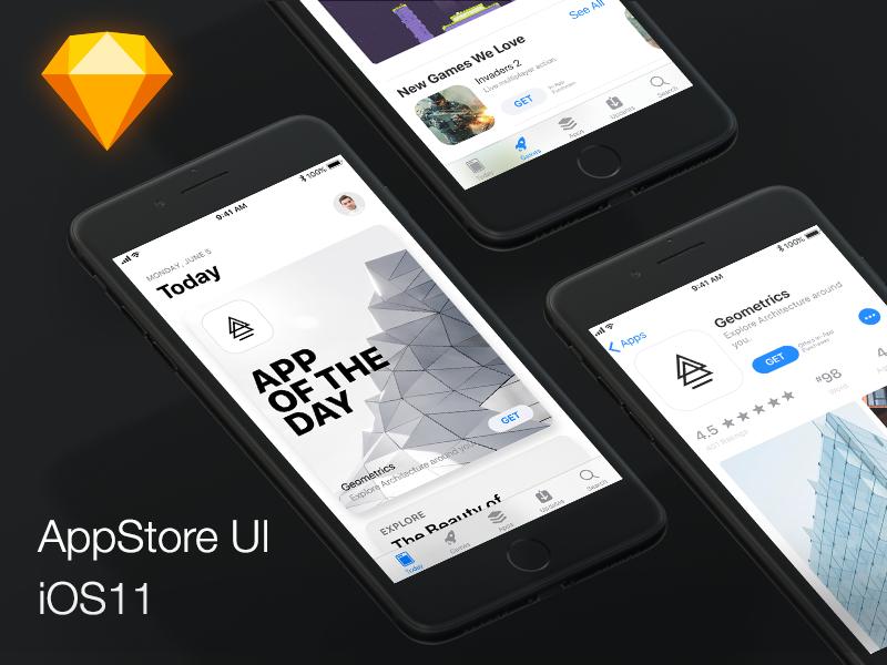 iOS11-App-Store-Design-UI by Felix Lebedinzew on Dribbble