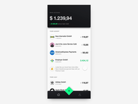 Finance App Interaction Concept