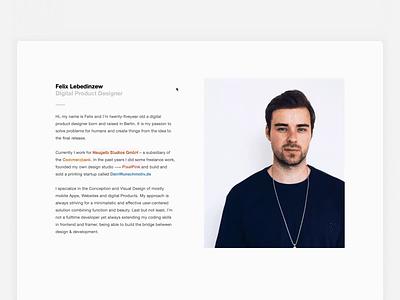 New Portfolio Website product design freelance app minimal ui berlin website portfolio