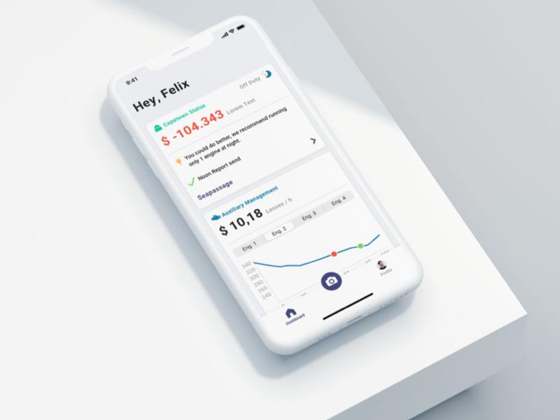 Fuelcast App berlin minimal uidesign impact sustainability maritime fuelcast design app