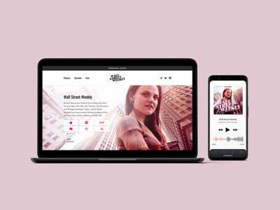 Wall-Street-Weekly Podcast Landingpage 🎧🏦 branding landingpage website mediapioneer podcast minimal berlin