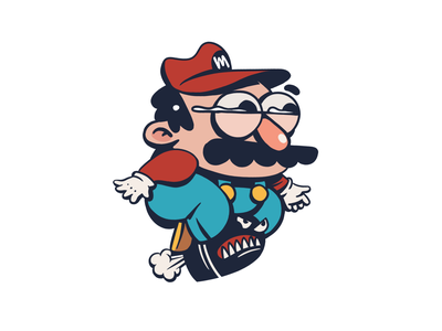 Mario character design illustration icon mario bros nintendo mario