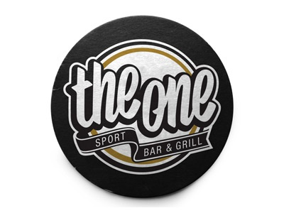 The One logo type typography sport bar brushscript
