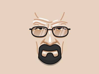 Heisenberg say my name breaking bad bolted illustration heisenberg face