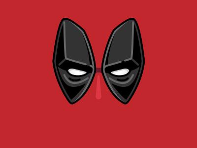 Deadpool bolted illustration deadpool face