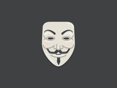Anonymous illustration bolted mask anonymous