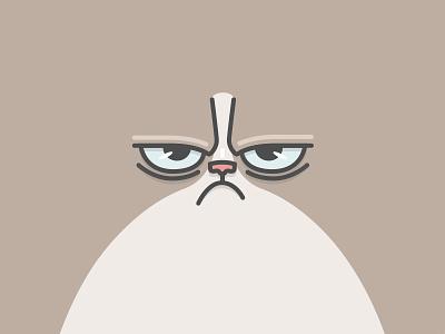 Grumpy Cat fun cat grumpy bolted face illustration