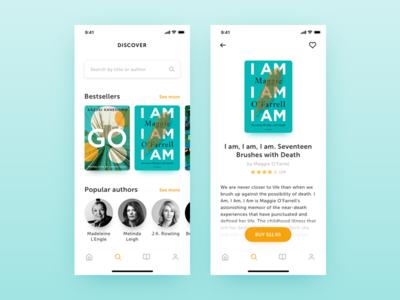 Book Reader App Redesign - Search & Details