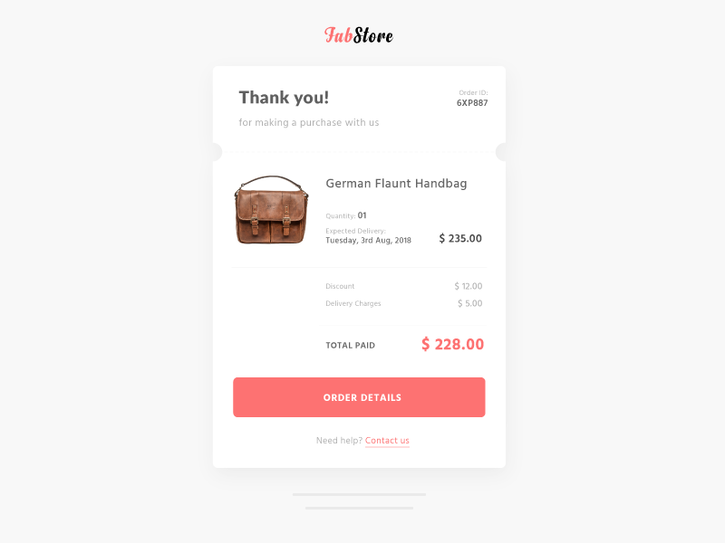 Email Receipt UI dailyui 17 pay emailreceipt invoice receipt userinterface userexperience ux ui