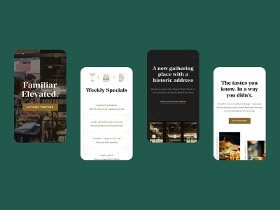 123 Tavern Mobile restaurant layout mobile web design web design grand rapids mighty