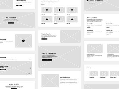 Module Wireframing strategy components modules grand rapids mighty web design design web wireframes wire wireframe grid