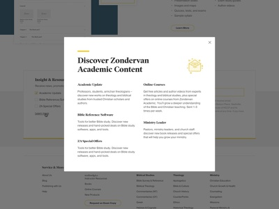 Zondervan Academic Email Subscription subscription acadmic modal email ui web design web design grand rapids mighty
