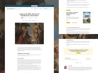 Zondervan Academic Blog Post blog post blog layout academic ui web design web design grand rapids mighty