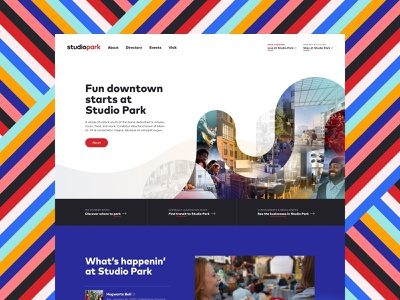 Studio Park Homepage downtown michigan events layout entertainment city color web design web design grand rapids mighty