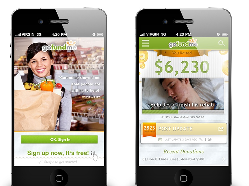 Crowdfunding Mobile App iphone ios app mobile ui ux san diego