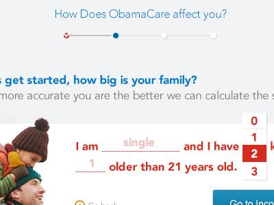 Tax Widget tax healthcare web mobile custom dropdown