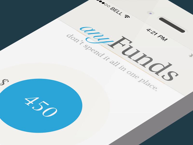 Mobile App Start mobile iphone app financial easy minimal
