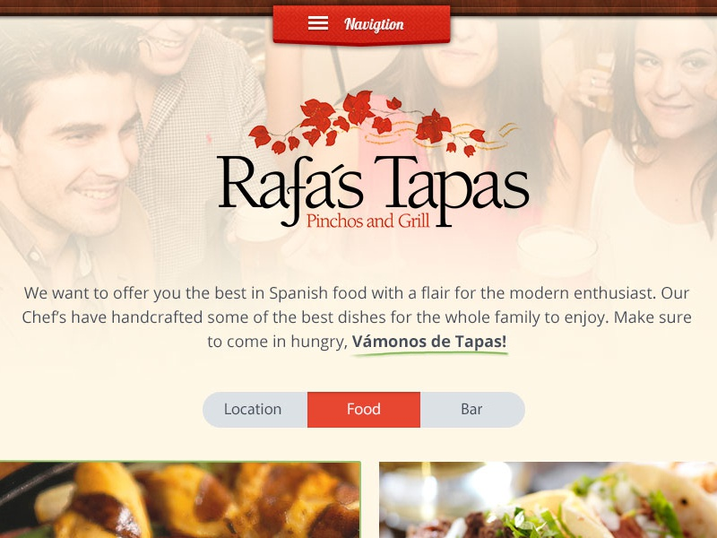 Dumb Design Test web landing page design food mexican concept