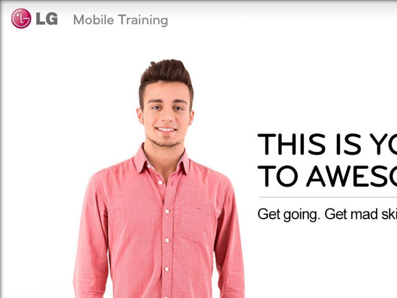 Mobile Training tablet mobile lg fortune 500 ui ux