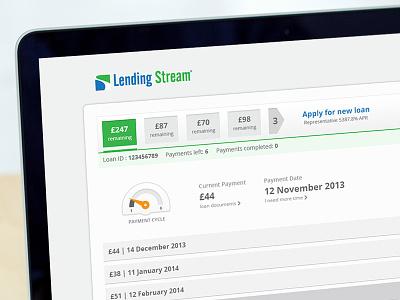Loan Application web saas financial ui ux