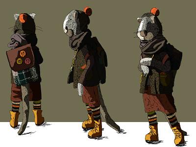 mouse colour art line design vector illustration