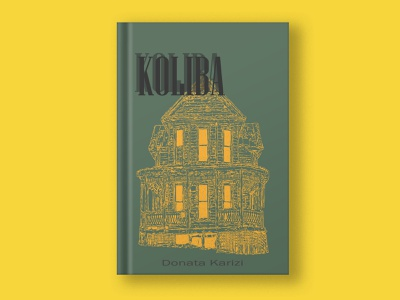 Cottage colour line books book art design vector illustration