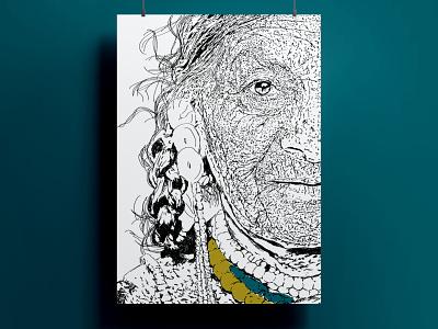 eye print line colour art illustration vector design