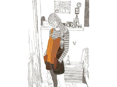 velvet print line colour art illustration vector design