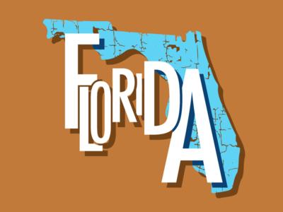 States Florida shape type texture florida states