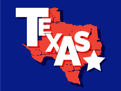 Texas texas states shapes shape color pattern text typography illustration graphicdesign design