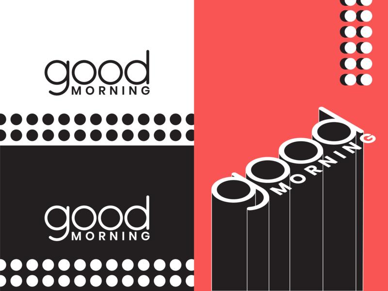 Good Morning Logo circle dots illustration morning good breakfast logo iso color design shape