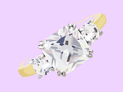 Meghan Markle's Bling Ring diamond sparkle band jewelry purple vanity fair illustration ring