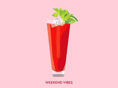 Bloody Mary glamour illustration bloody mary weekend drink
