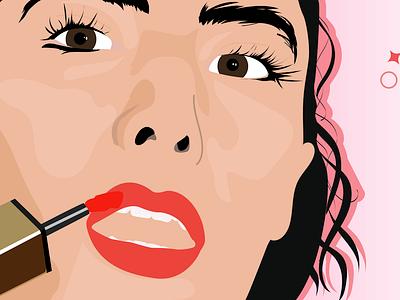 YSL Lipstain lip balm beauty products social design illustration girl boss allure face girl lip makeup beauty lipstain lipstick ysl