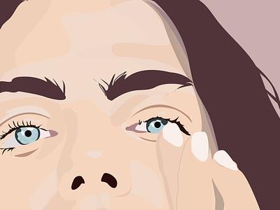 All Eyes bathroom social girl health illustrator vector beauty illustration woman illustration eyesight woman eyes